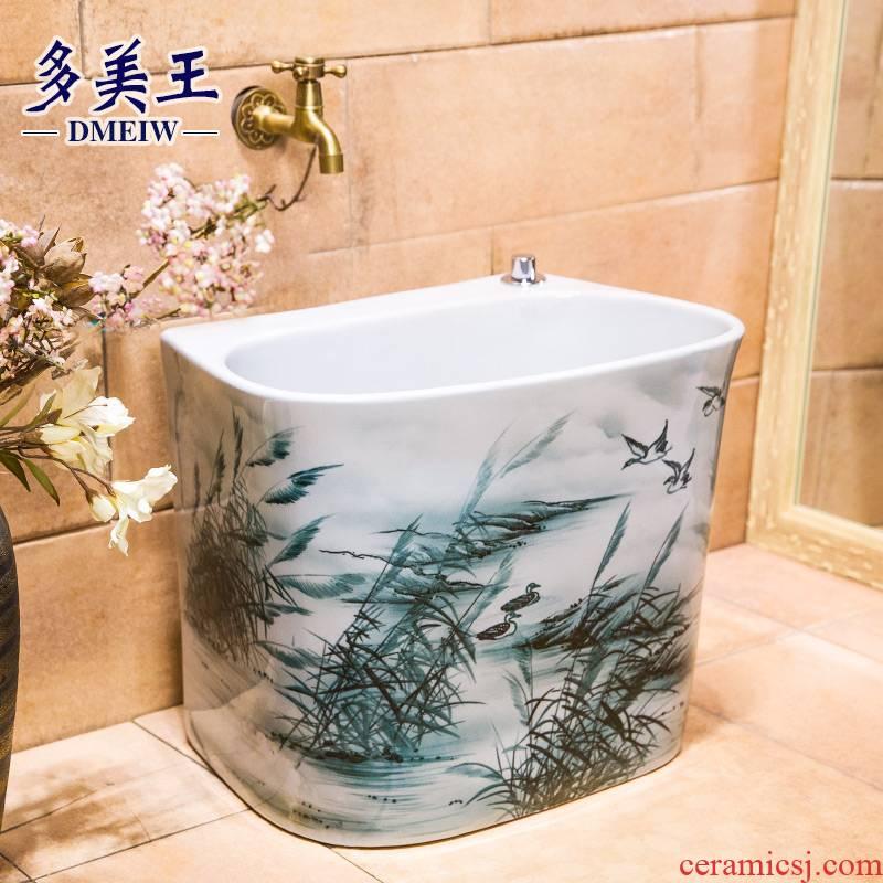 Large ceramic art balcony for wash mop mop pool pool toilet mop pool home floor mop basin bucket
