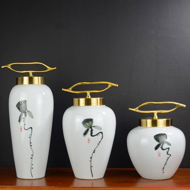 Jingdezhen ceramics new Chinese vase furnishing articles dried flower arranging flowers sitting room home TV ark, soft adornment is placed