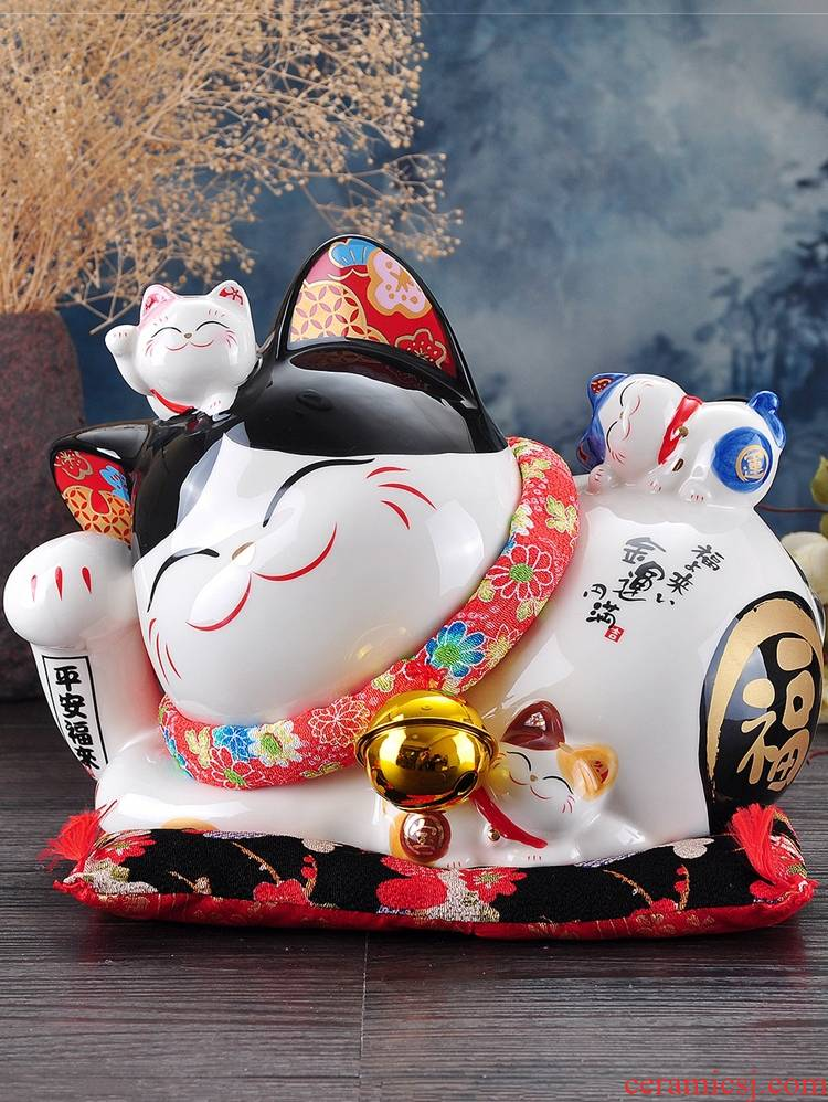 Plutus cat furnishing articles large ceramic Japan lay the save money piggy bank store opening creative housewarming birthday gifts