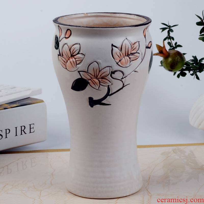 White ceramic flower POTS of meat the plants more large caliber hand - made contracted old running the mage, ceramic flower implement green plant pot basin