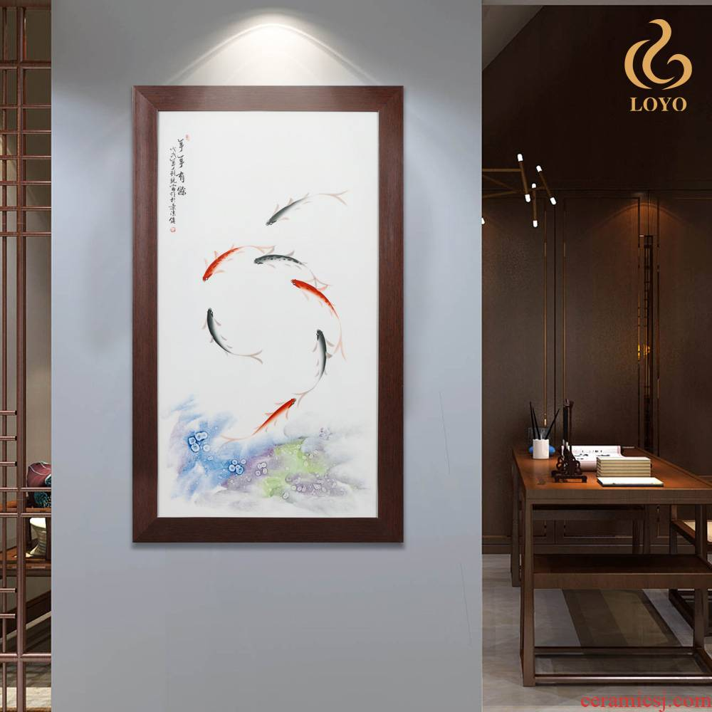 Jingdezhen ceramics porcelain plate painting every year more than sitting room porch paintings of Chinese style household decoration hangs a picture