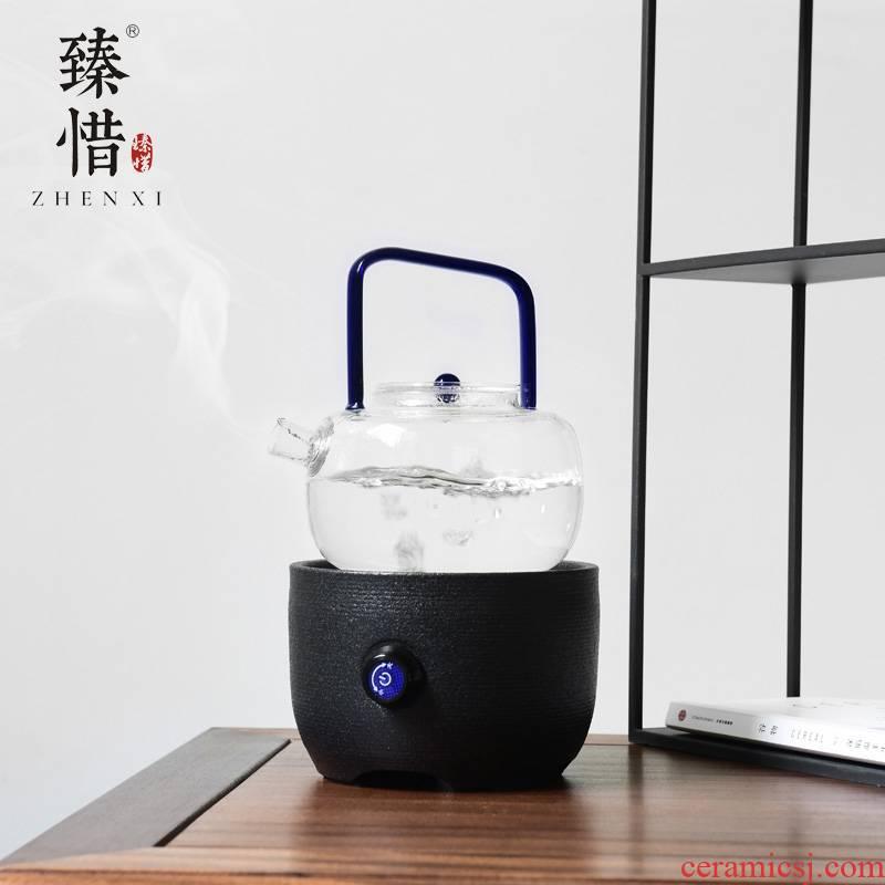 """Precious little glass boiling kettle electric TaoLu kettle girder kung fu tea set household contracted the teapot"