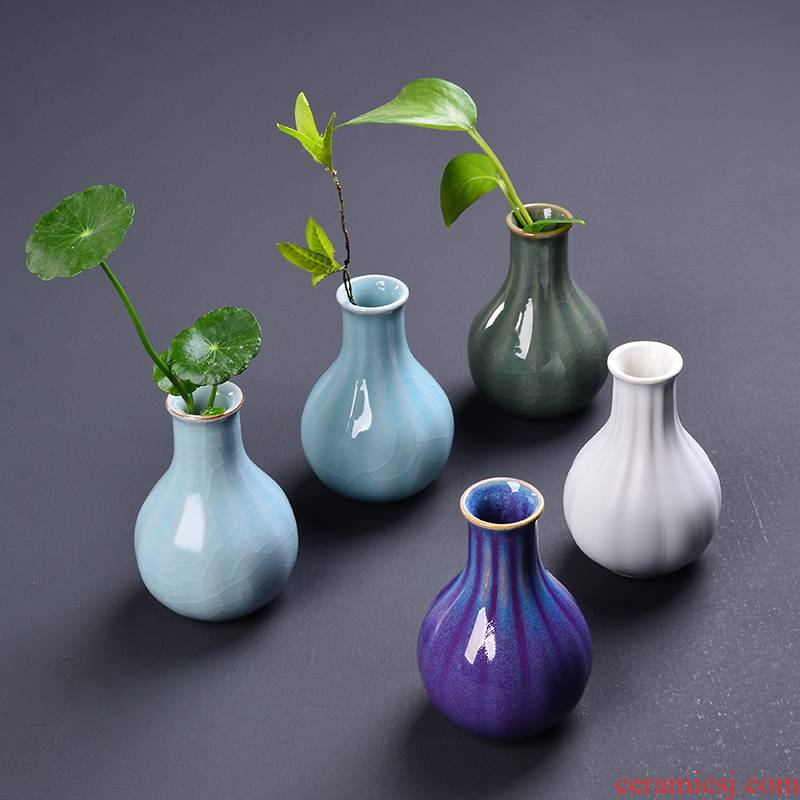 Restoring ancient ways YOU five ancient jun porcelain vases, hotel decorative dried flowers that occupy the home furnishing articles tea flower receptacle