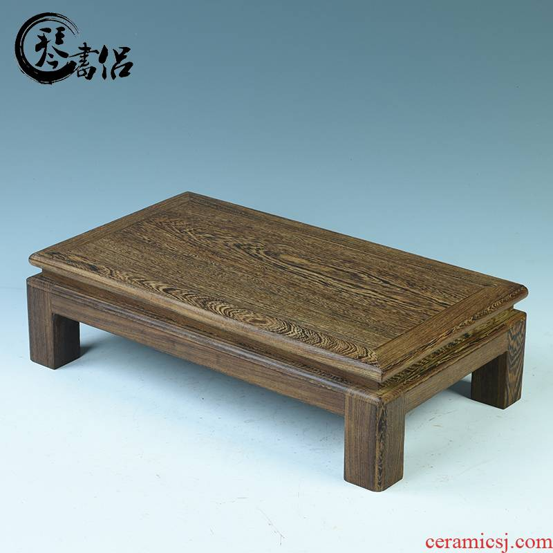 Mahogany base solid rectangular wenge base flower miniascape of furnishing articles base rectangle zen tea tea