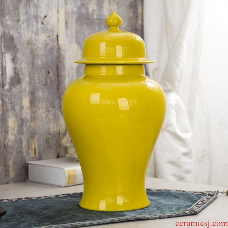Jingdezhen ceramics archaize general pot vase model living room household soft adornment is placed large Chinese style