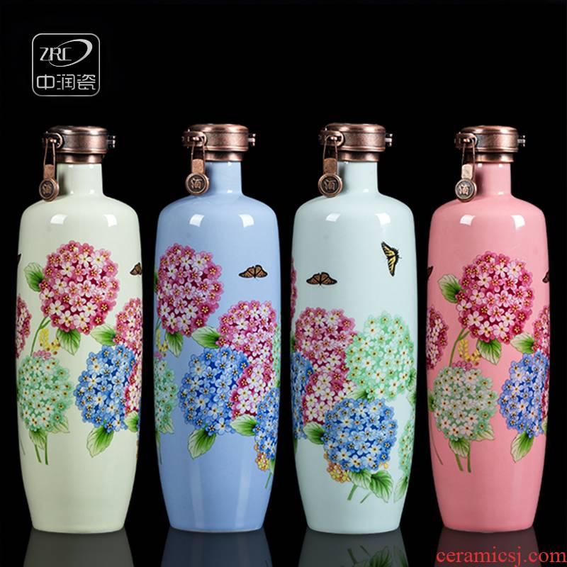 Jingdezhen ceramic bottles empty wine bottles home antique white wine flask creative sealed jar. A kilo