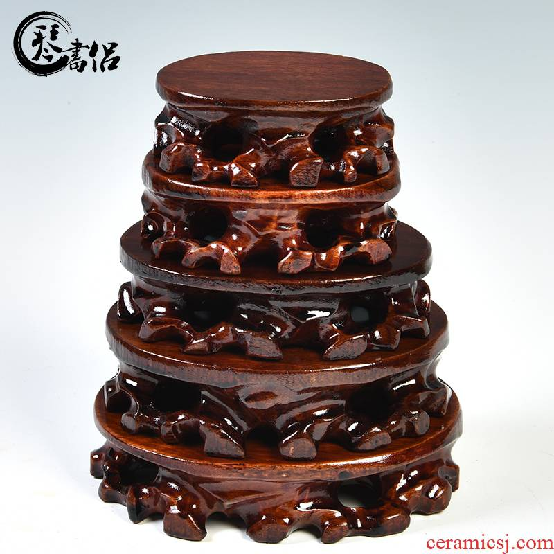 Flower pot base solid rectangular stone base tea sets are it base miniascape of fleshy base wooden pad