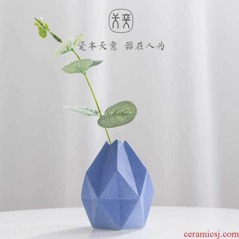 """Put in the early days of yi ceramic vase furnishing articles ornaments desktop creative flower arranging contracted and I sitting room small and pure and fresh"