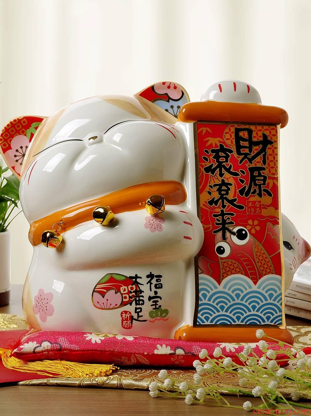 Stone workshop plutus cat furnishing articles store opening ceramic oversized rich saving money piggy bank creative gift