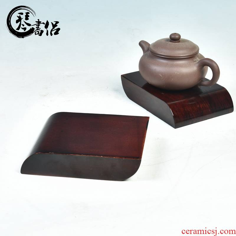 Edges pianology picking samaras wood base solid wood handicraft furnishing articles it tea base base