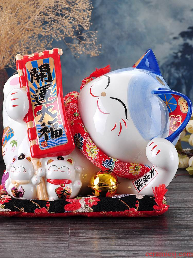 Plutus cat furnishing articles large ceramic Japan saving money piggy bank store opening creative practical gift stone workshop