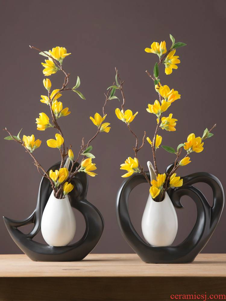 Vase furnishing articles Nordic study porch home sitting room desktop small handicraft ceramic indoor home furniture