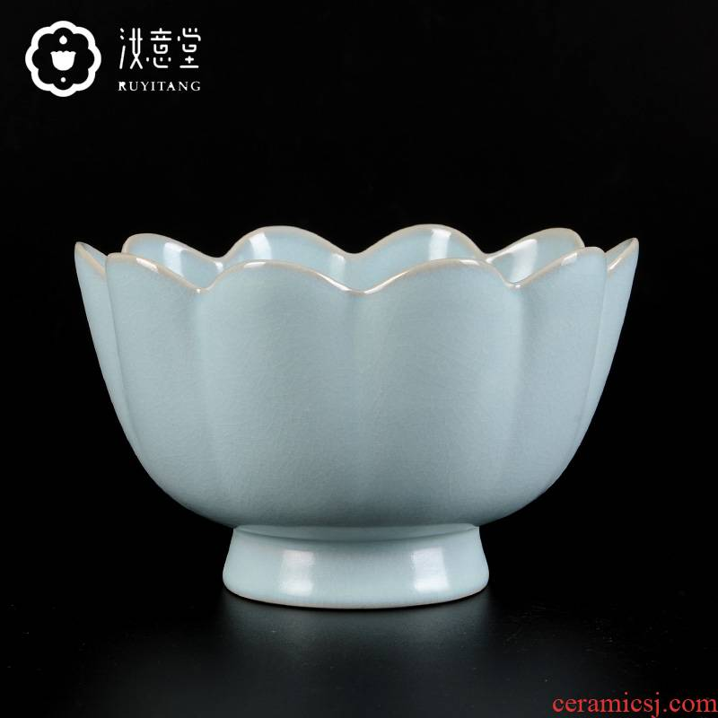 Archaize your up porcelain bowl lotus type ceramic crafts collection the sitting room is the study of Chinese style household decorative furnishing articles