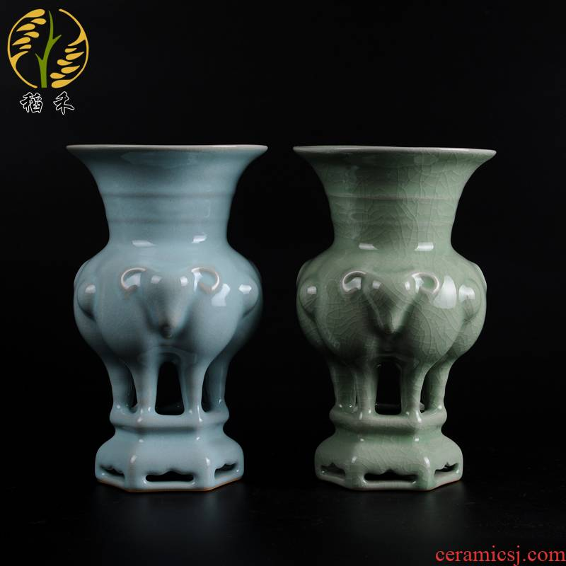 Rice grain authentic origin decoration home decoration penjing collection your porcelain handicraft business gifts three offers
