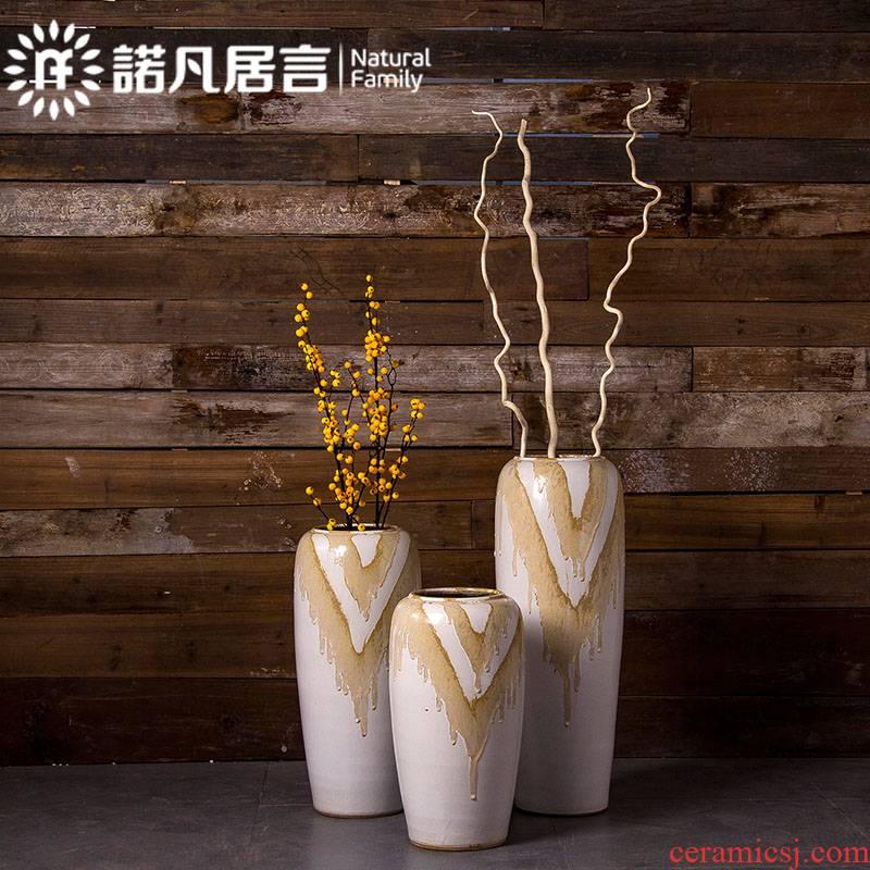Ceramic vase of large sitting room porch hotel villa dried flower arranging flowers furnishing articles waves glaze up creative floral outraged