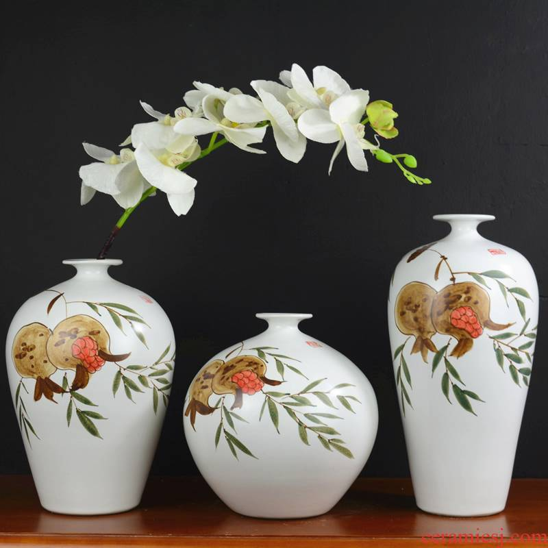 Jingdezhen vase furnishing articles Chinese flower arranging dried flowers sitting room ceramic household adornment TV ark, contracted creative decoration
