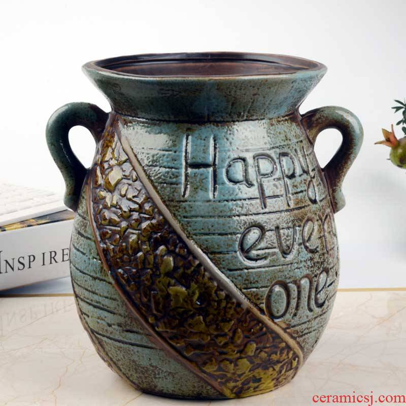 Ou shigu creative old running the mage, fleshy flowerpot ceramic large green plant a new move, fleshy receptacle, green plant