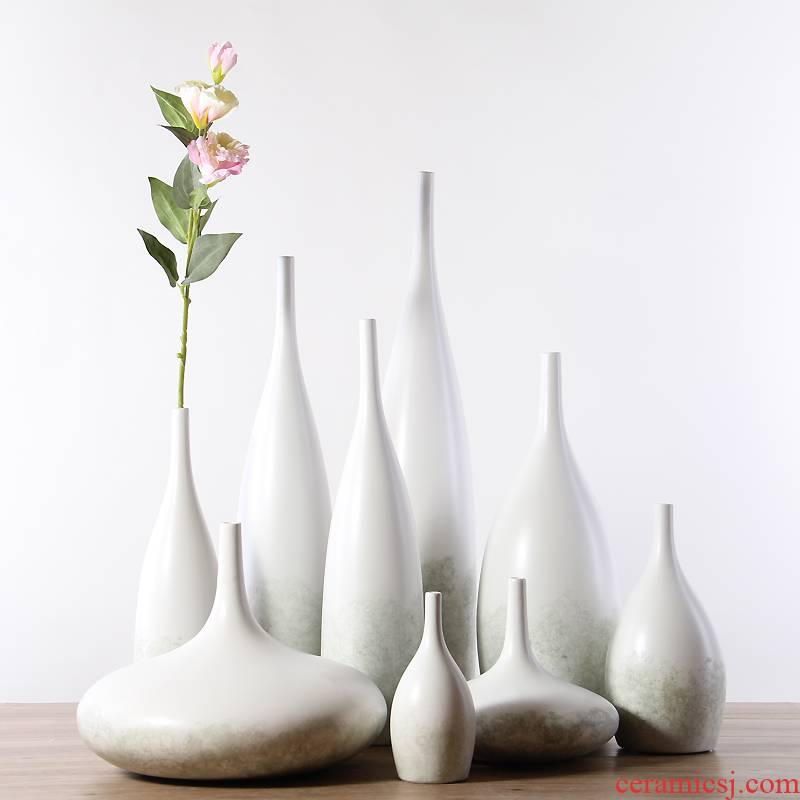 The Nordic white ceramic vase furnishing articles I and contracted Europe type dry flower arranging flowers small pure and fresh and sitting room home decoration