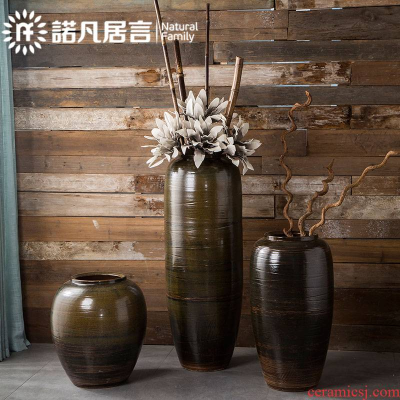 Jingdezhen ceramic Chinese style suit flower, the sitting room of large flower implement simulation club villa ceramic furnishing articles