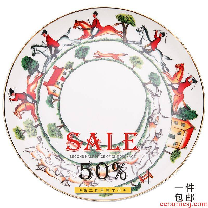 European exports British west ipads porcelain tableware monkey suit group ceramics steak flat salad plate of joy