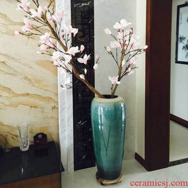 Jingdezhen ceramic up of large vase continental hotel villa dried flowers flower arrangement sitting room adornment furnishing articles