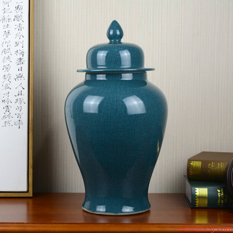Jingdezhen ceramics modern new Chinese style household adornment general pot vase furnishing articles rich ancient frame sitting room porch