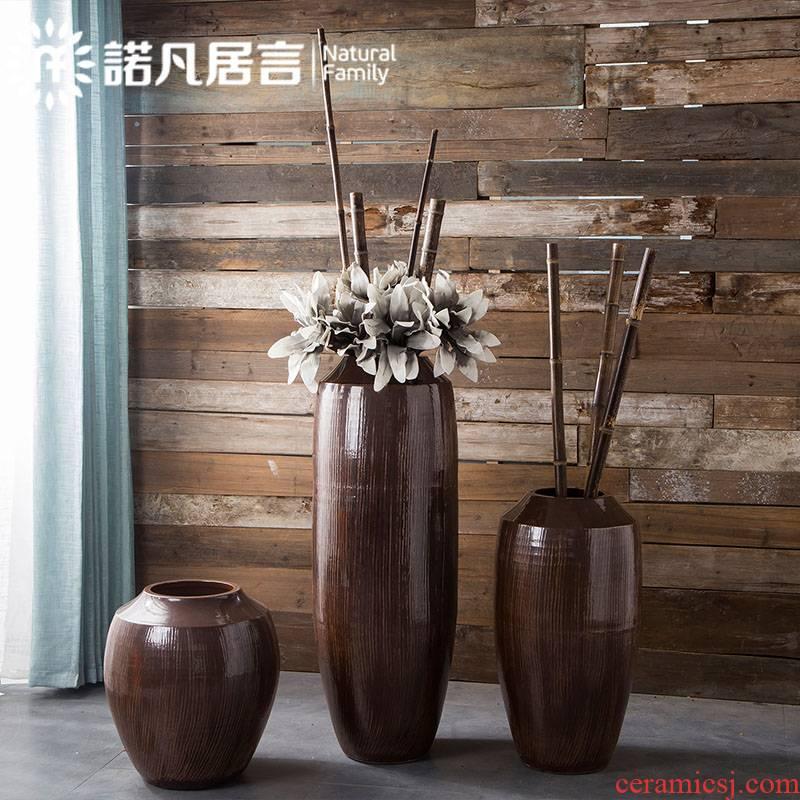Jingdezhen ceramic vase to restore ancient ways for the old living room hotel villa clubhouse flower arranging landing place decoration decoration