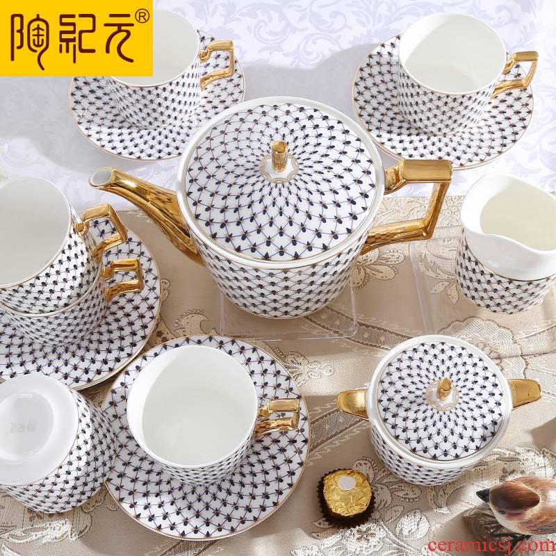 Coffee set suit European 15 head ipads China Coffee cups and saucers Tang Shanhong ceramic English afternoon tea tea set