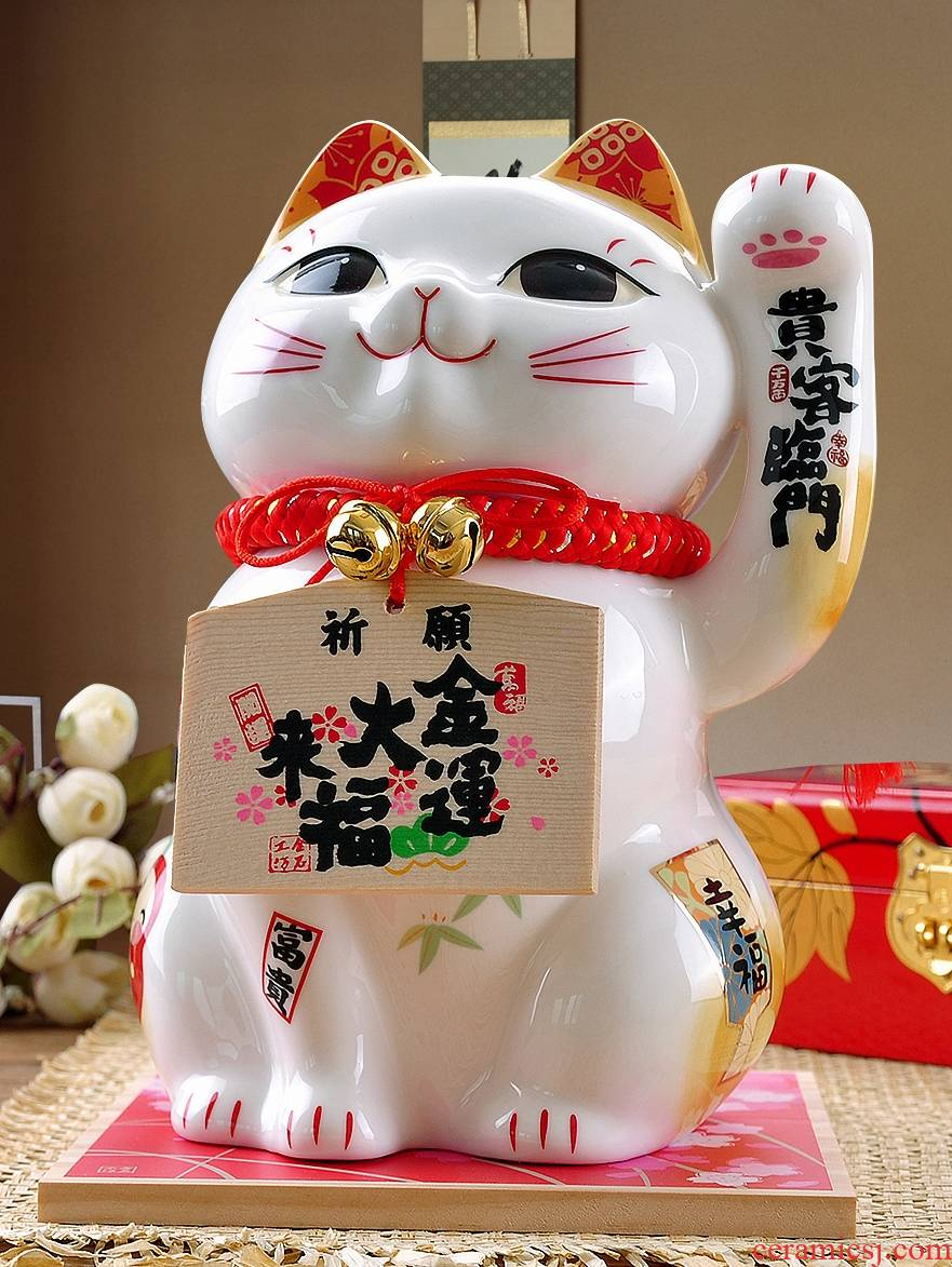 Stone workshop gift shops opening large ceramic source of money widely enter guest rimmon Japanese plutus cat furnishing articles