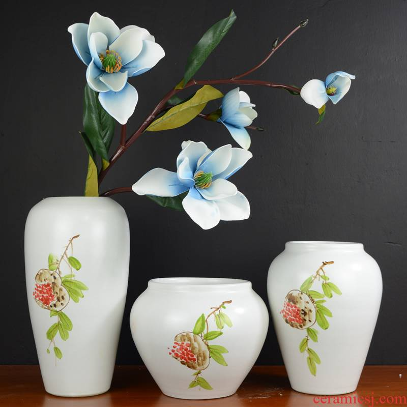 Jingdezhen ceramic vases, new Chinese style furnishing articles dried flowers flower arrangement I and contracted sitting room decoration home decoration