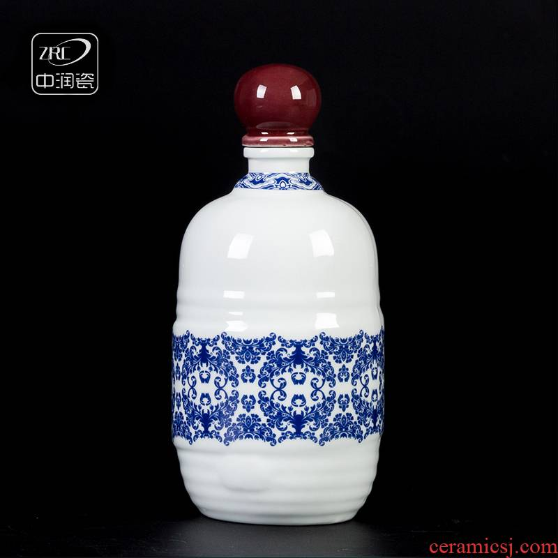 Also the blue - and - white porcelain bottles at grain bottle home archaize hip flask mailed to pack a kilo
