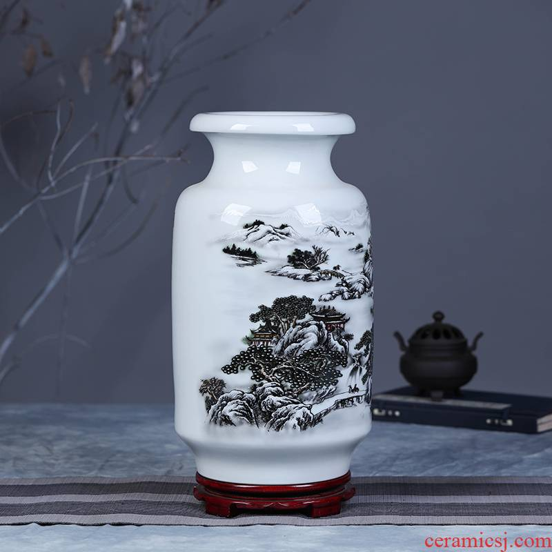 Jingdezhen ceramic vase household act the role ofing is tasted furnishing articles flower arranging decorative vase modern ceramics decoration arts and crafts