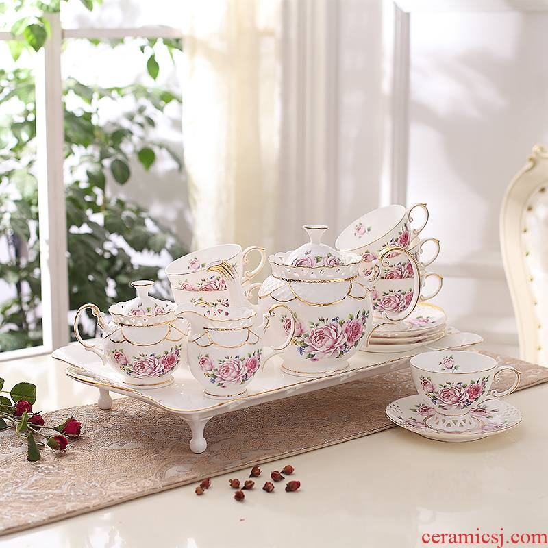 European ceramic coffee set English afternoon tea tea sets suit ceramic cups of coffee cups and saucers