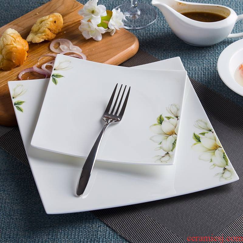 Steak dishes square dinner plate ipads porcelain plate of pasta dish of plate flat ceramic tableware all the creative home plate