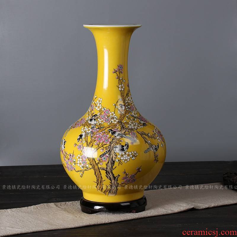 Jingdezhen ceramic bottle furnishing articles decoration home decoration ceramic dry flower is plugged into the vase