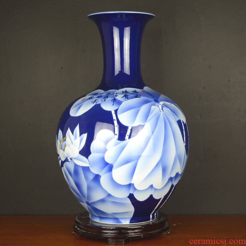 Jingdezhen ceramics hand - made vases, large living room club hotel Chinese style household soft adornment porch place