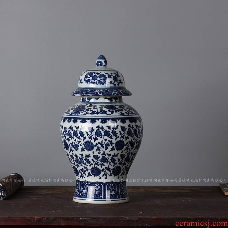 Antique porcelain of jingdezhen ceramics general tank storage tank sugar tea pot home furnishing articles