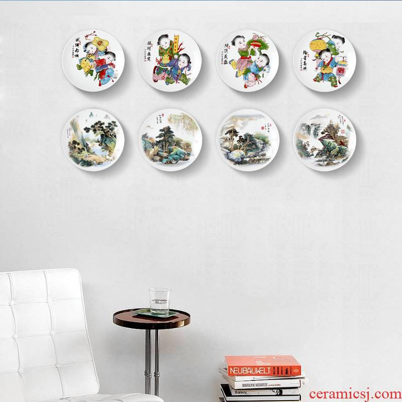 I and contracted wall decoration ceramic plate wall decorations hanging dish wall act the role of background wall plate