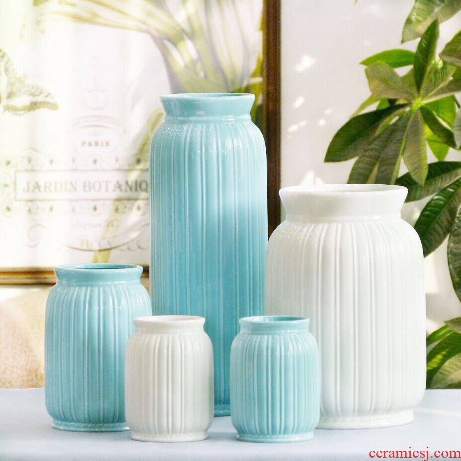 Jingdezhen ceramic European contracted floret bottle home sitting room all over the sky star, hydroponic flower arrangement the flower adornment furnishing articles