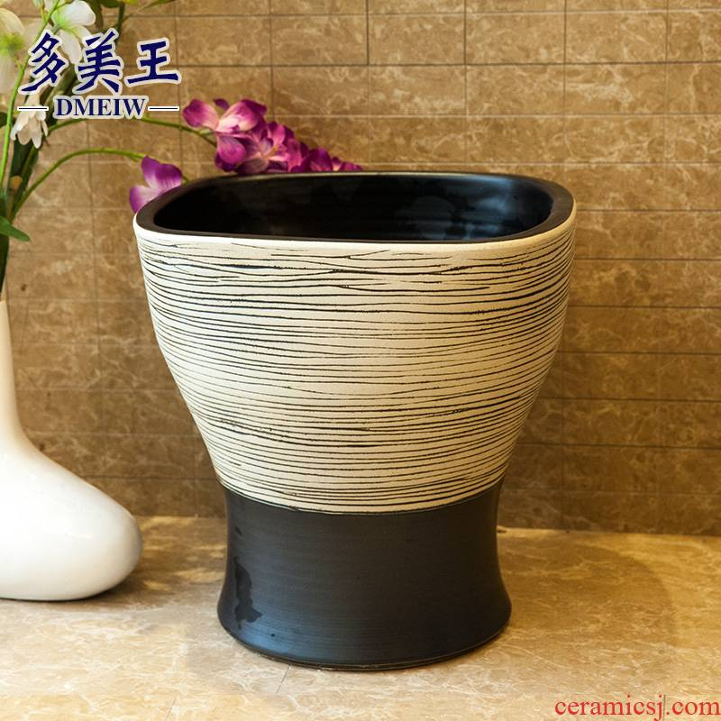The balcony square mop pool bathroom art ceramic mop pool one - piece mop basin large mop pool 40 cm