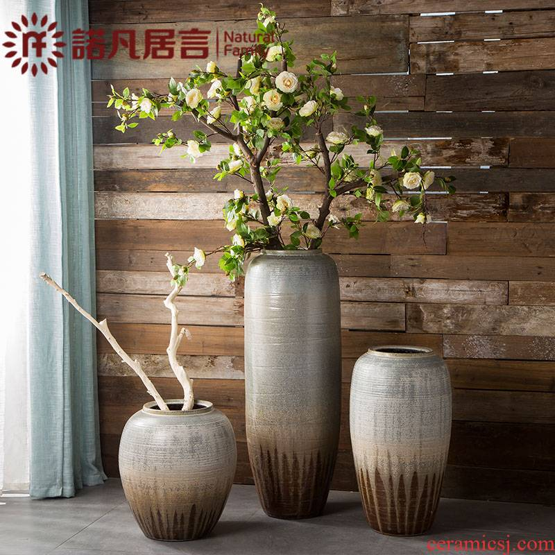 Large ceramic vase furnishing articles sitting room hotel villa flower arranging Europe type restoring ancient ways the flower decoration simple fashion ornaments