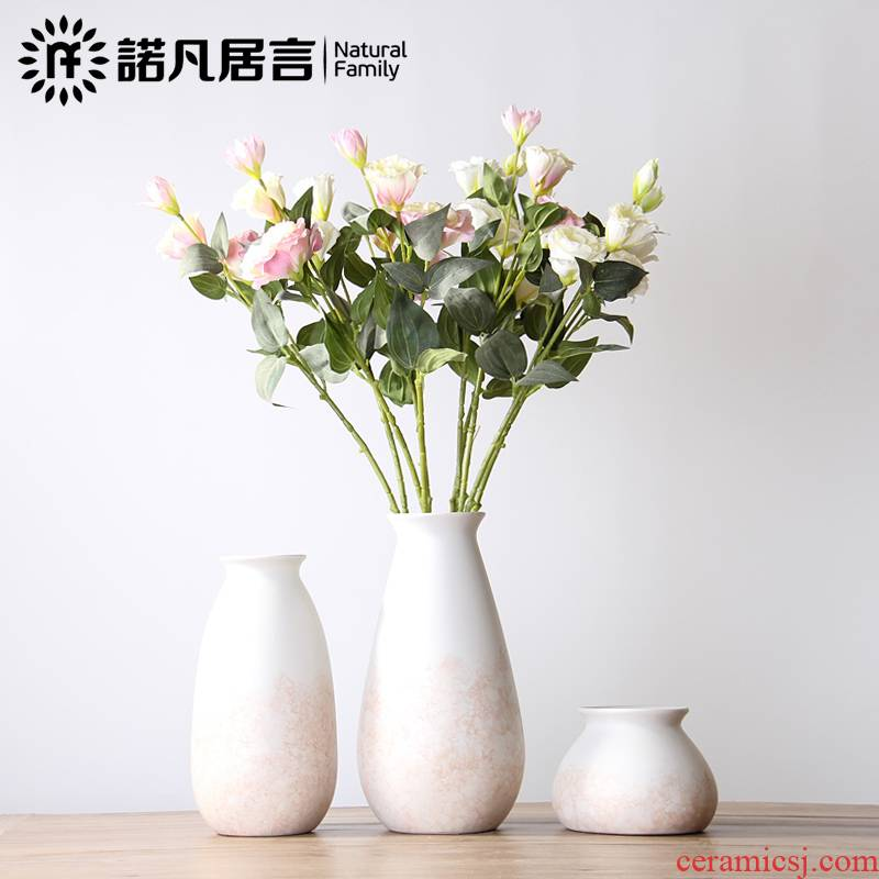 Mesa ceramic vase sitting room hotel simulation flower flower arranging furnishing articles dried flowers decorate the modern simple decorations