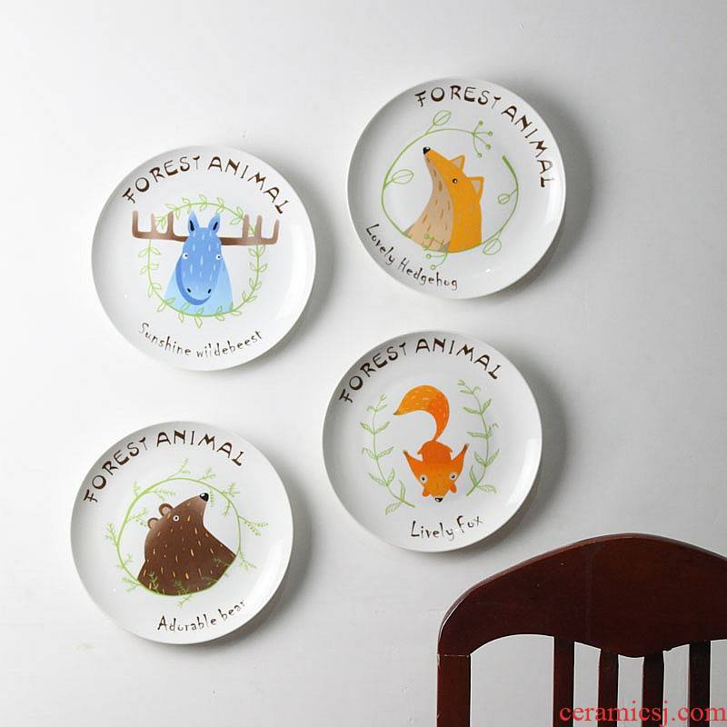 Scandinavian decorative hanging dish wall act the role of ceramic wall act the role ofing sitting room background wall combination pendant ornaments on the wall