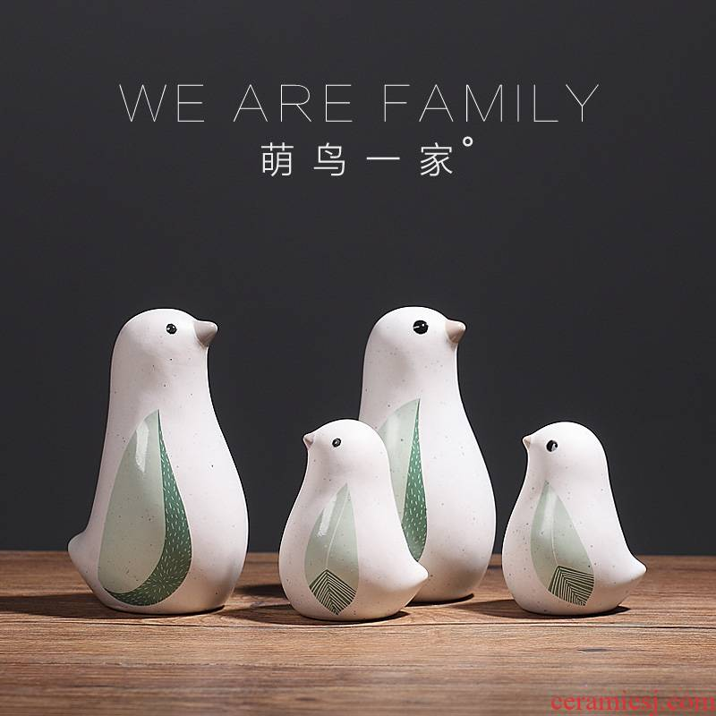 Creative Nordic home furnishing articles ceramic crafts bird sitting room of TV ark, wine sample room