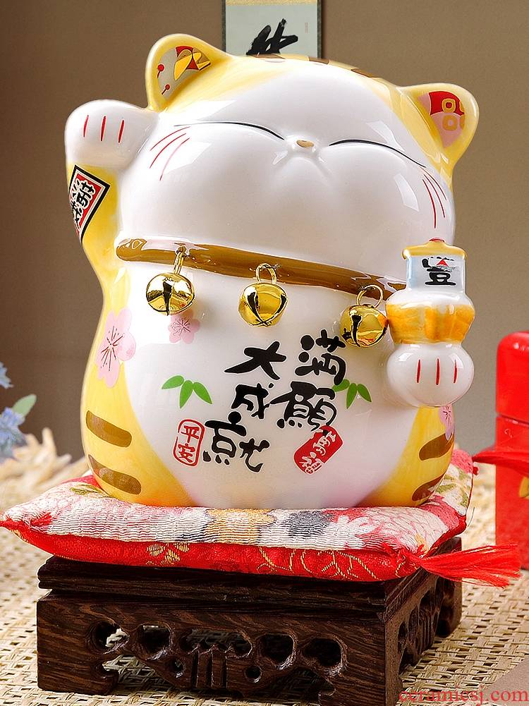 Stone workshop trumpet plutus cat furnishing articles ceramic piggy bank the Persian birthday gift shops the opened the gift