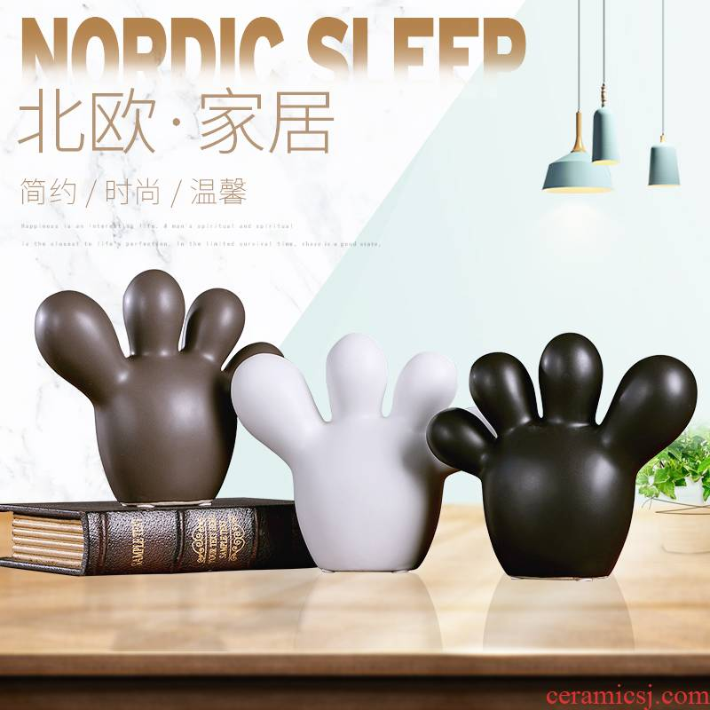 Creative home wine decorations furnishing articles Nordic desktop accessories TV sitting room ark, ceramic handicraft move
