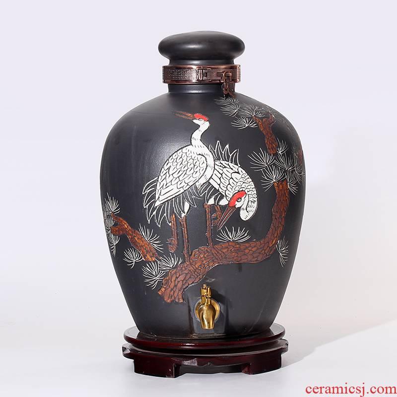 An empty bottle ceramic jars 10 jins 20 jins 30 jin jin liquor 50 it household ceramic seal cylinder