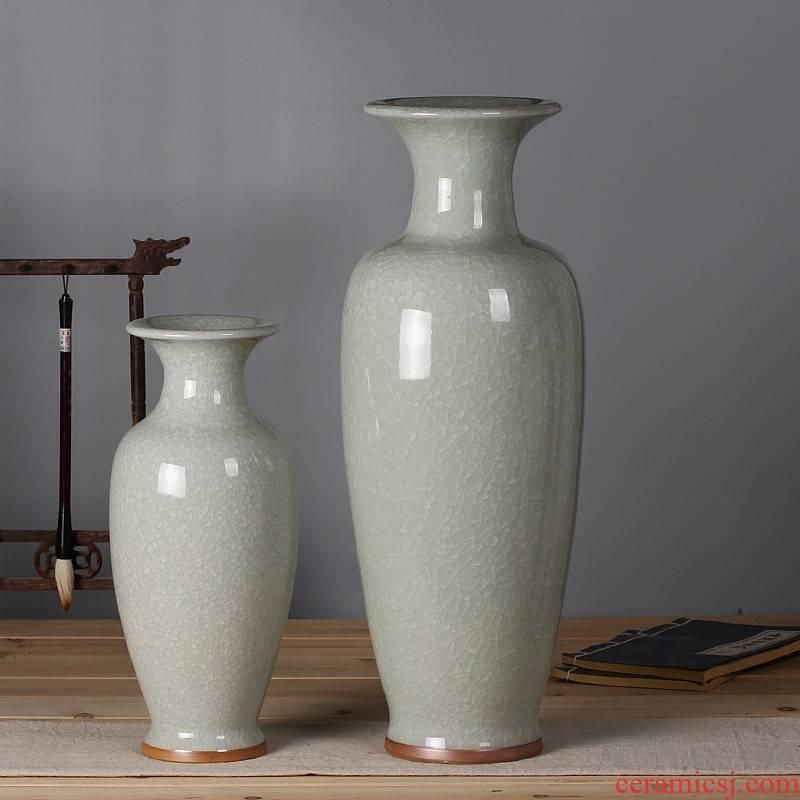 Classical furnishing articles jun porcelain antique ceramics slicing vases, modern home sitting room adornment