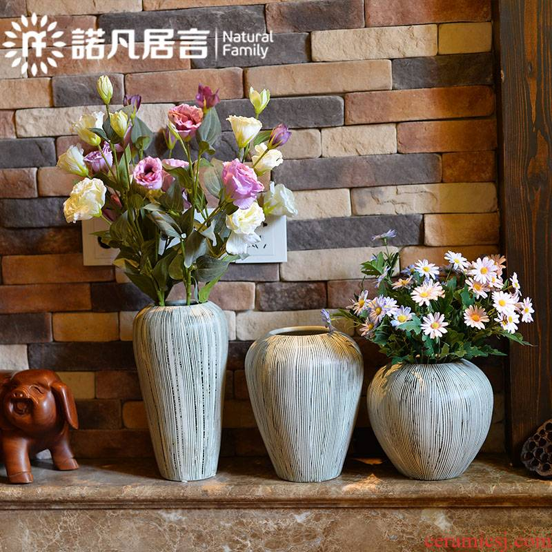 Mesa of jingdezhen ceramic vase restoring ancient ways is the sitting room the hotel villa clubhouse dried flower arranging flowers place flower decorations