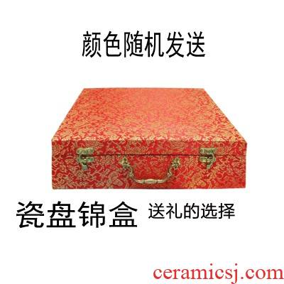 Vase JinHe sit plate disc packaging ceramic gift box plate JinHe